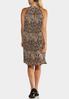 Plus Size Pleated Snakeskin Dress alternate view