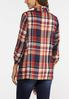 Plus Size Plaid Drape Jacket alternate view