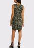 Plus Size Camo Print Dress alternate view