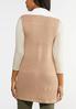 Plus Size Faux Fur Lined Sweater Vest alternate view