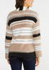 Plus Size Yarn Striped Cardigan alternate view