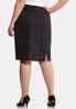 Plus Size Purple Plaid Pencil Skirt alternate view