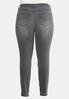 Plus Size Gray Wash Jeggings alternate view