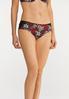Plus Size Red Floral Panty Set alt view