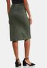 Plus Size Faux Suede Tie Skirt alternate view