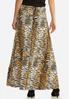 Plus Size Ruched Tiger Skirt alternate view
