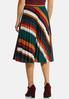 Pleated Stripe Midi Skirt alternate view