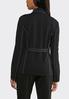 Plus Size Contrast Stitch Belted Blazer alternate view