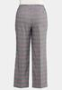 Plus Size Curvy Pink Plaid Trousers alternate view