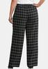 Plus Size Curvy Plaid Trouser Pants alternate view