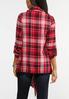 Plus Size Red Plaid Fringe Jacket alternate view
