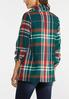 Plus Size Autumn Green Plaid Jacket alternate view