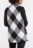Plus Size Houndstooth Contrast Vest alternate view