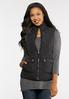 Plus Size Quilted Puffer Vest alt view