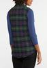 Plus Size Plaid Puffer Vest alternate view