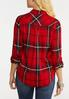 Plus Size Plaid High Low Top alternate view