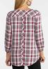 Plus Size Button Back Plaid Top alternate view