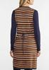 Plus Size Navy Stripe Vest alternate view