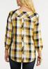 Plus Size Gold And Black Plaid Shirt alternate view