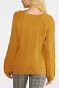 Golden Cable Knit Sweater alternate view