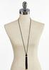 Tasseled Suede Cord Necklace alternate view