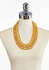 Layered Gold Bead Necklace alternate view