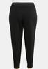 Plus Size Contrast Stitch Pull- On Pants alternate view
