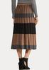 Plus Size Striped Sweater Skirt alternate view