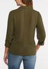 Plus Size Olive Button Down Shirt alternate view