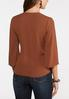 Plus Size Wood Ring Wrap Top alternate view