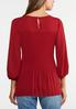 Plus Size Pleated Balloon Sleeve Top alternate view