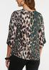 Plus Size Cinched Leopard Print Top alternate view