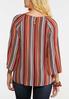 Plus Size Autumn Stripe Tie Top alternate view