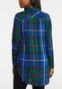 Plus Size Royal Blue Plaid Tunic alternate view