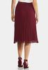 Pleated Wine Midi Skirt alternate view