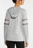 Plus Size Striped Hooded Sweatshirt alternate view