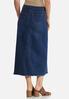 Plus Size Stitch Denim Skirt alternate view