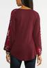 Plus Size Scarf Sleeve Hacci Top alternate view