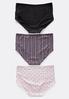 Plus Size Dot Stripe Panty Set alternate view