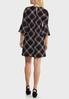 Plus Size Patterned Bell Sleeve Dress alternate view