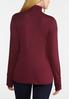 Plus Size Ruched Turtle Neck Top alternate view