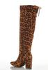 Wide Width Leopard Tall Boots alternate view