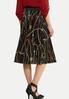 Status Print Pleated Skirt alternate view
