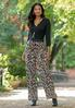 Micro Pleated Leopard Pants alt view