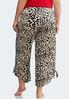 Plus Size Leopard Fleece Lounge Pants alternate view
