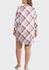 Plus Size Plaid Sleep Shirt alternate view