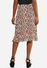 Plus Size Pleated Snakeskin Skirt alternate view