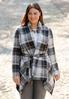 Plus Size Belted Plaid Jacket alternate view