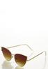 Gold Rim Cateye Sunglasses alternate view