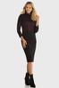Colorblock Shimmer Sweater Dress alt view